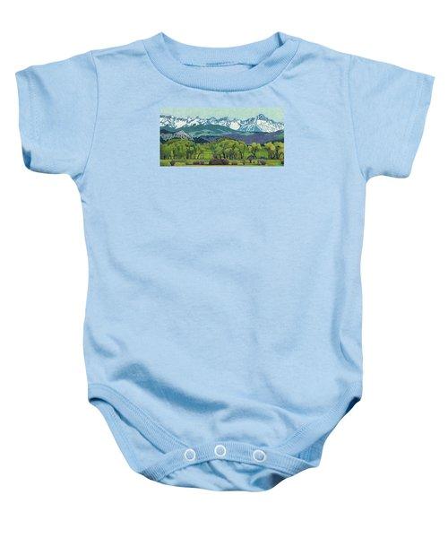 Sneffels Range Spring Baby Onesie
