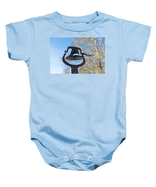Snow Covered Bell Baby Onesie