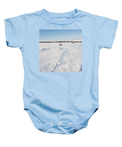 Snow Tracks Baby Onesie