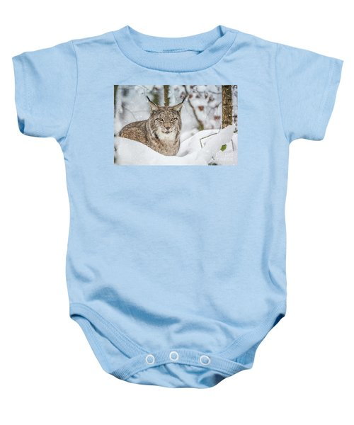 Snowy Lynx Baby Onesie