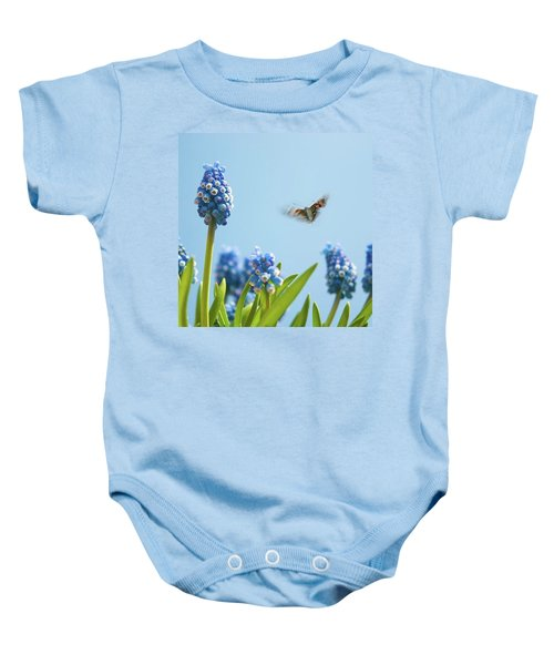 Something In The Air: Peacock Baby Onesie