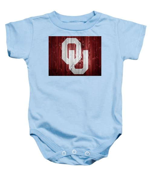 Sooners Barn Door Baby Onesie by Dan Sproul