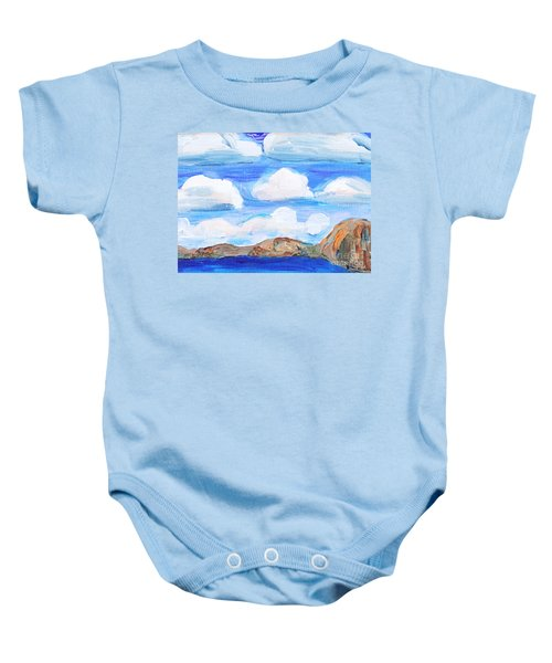 South Morro Bay View To North Baby Onesie
