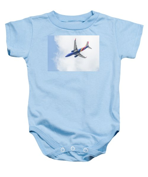 Southwest Airlines With A Heart Baby Onesie