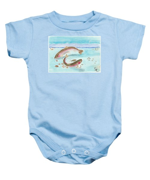 Spawning Rainbows Baby Onesie by Gareth Coombs