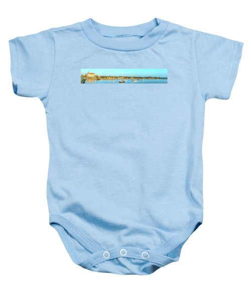 Baby Onesie featuring the photograph St Augustine Panorama by Sebastian Musial