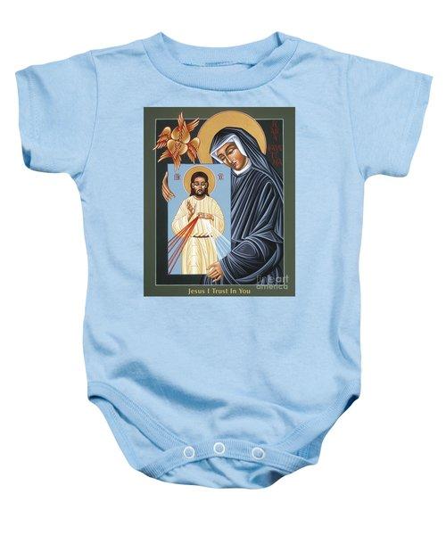 St Faustina Kowalska Apostle Of Divine Mercy 094 Baby Onesie
