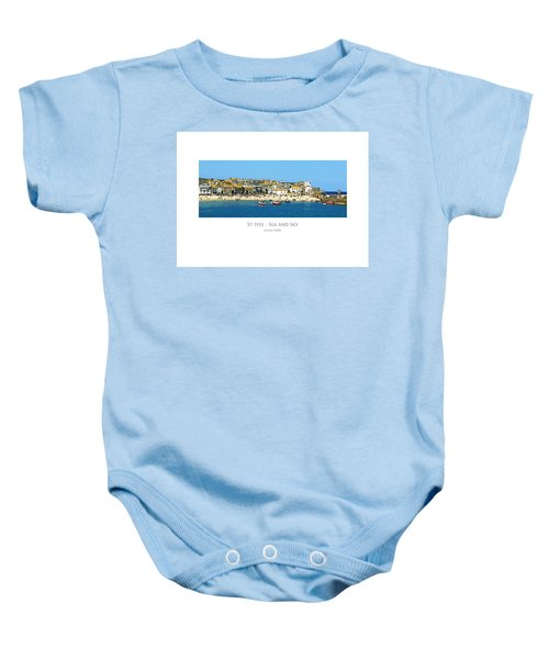 St Ives Sea And Sky Baby Onesie