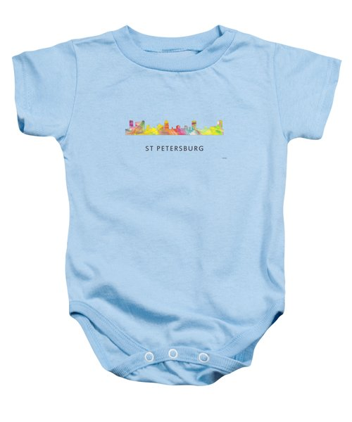 St Petersburg Florida Skyline Baby Onesie