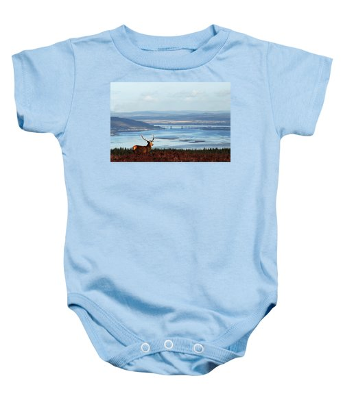 Stag Overlooking The Beauly Firth And Inverness Baby Onesie