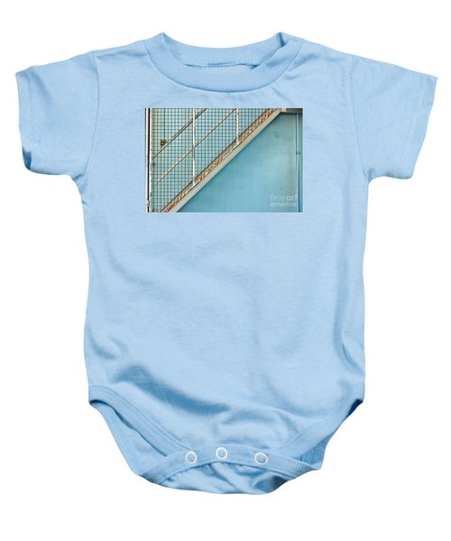 Stairs On Blue Wall Baby Onesie