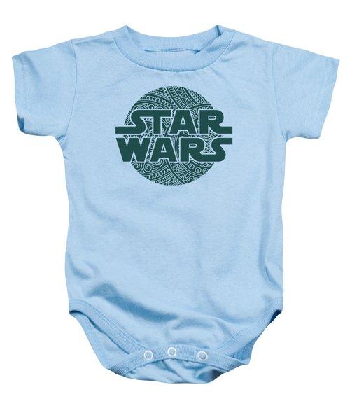 Star Wars Art - Logo - Blue 02 Baby Onesie