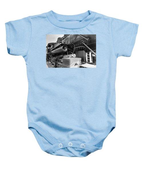 Steam Locomotive Side View Baby Onesie