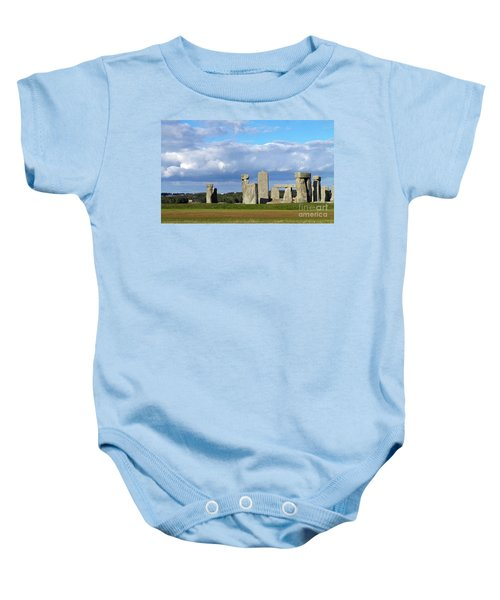 Baby Onesie featuring the photograph Stonehenge 4 by Francesca Mackenney
