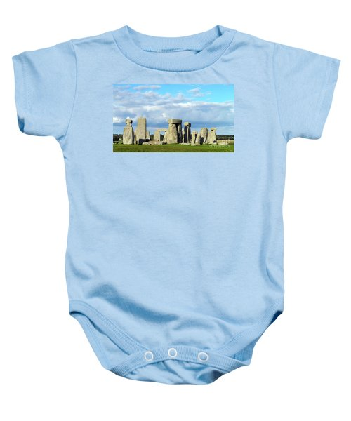 Baby Onesie featuring the photograph Stonehenge 5 by Francesca Mackenney