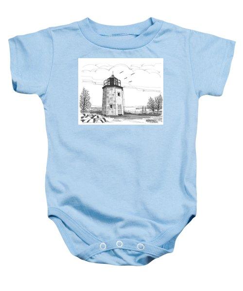 Stony Point Lighthouse Baby Onesie