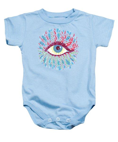 Strange Blue Psychedelic Eye Baby Onesie