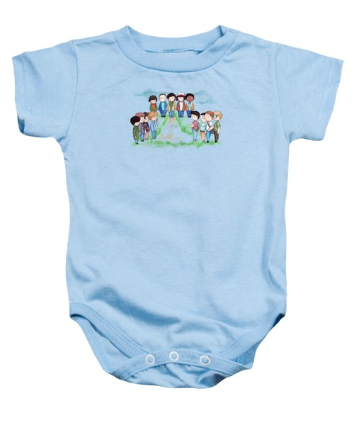 Stranger Goonie Stand By Me Things Baby Onesie