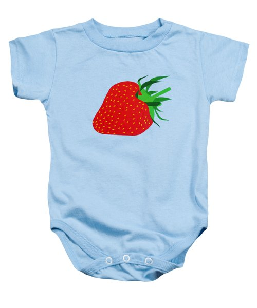 Strawberry Pop Remix Baby Onesie by Oliver Johnston