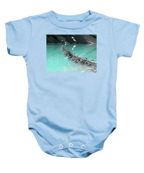 Stunning Turquoise Glacial Lake Baby Onesie