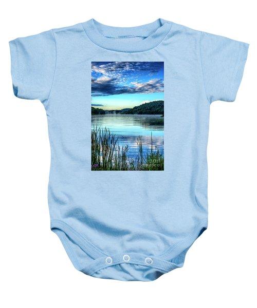Summer Morning On The Lake Baby Onesie