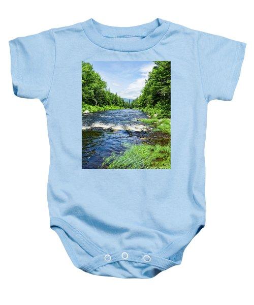 Summer Scene Rangeley Maine  -70742 Baby Onesie