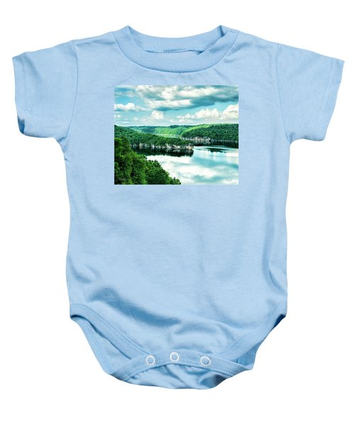 Summertime At Long Point Baby Onesie