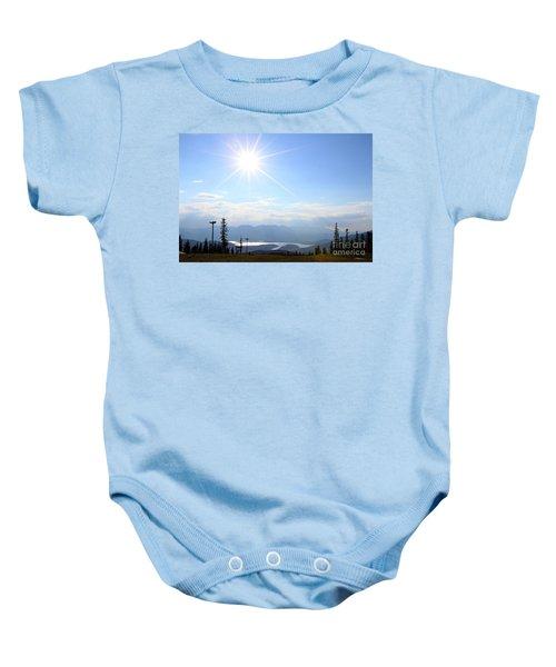 Sunburst Over Lake Dillon Baby Onesie
