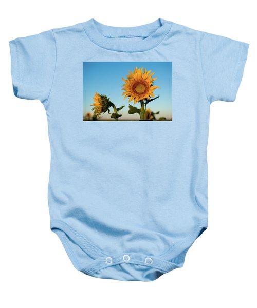 Sunflowers At Sunrise 1 Baby Onesie