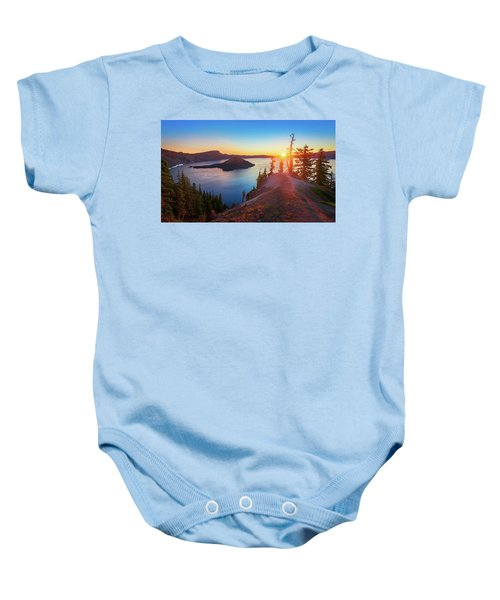 Sunrise At Crater Lake Baby Onesie