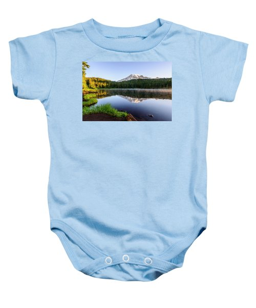 Mount Rainier Viewed From Reflection Lake Baby Onesie