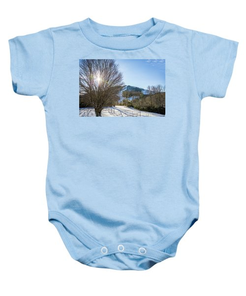 Sunrise Over Cataloochee Ski Baby Onesie