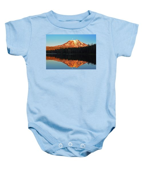 Sunset And Sunrise Mt Adams Baby Onesie