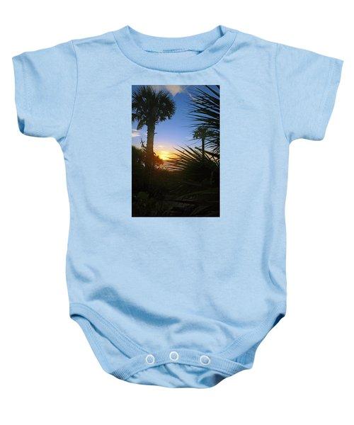 Sunset At Bearefoot Beach In Naples Baby Onesie