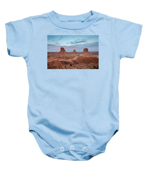 Sunset At Monument Valley No.1 Baby Onesie