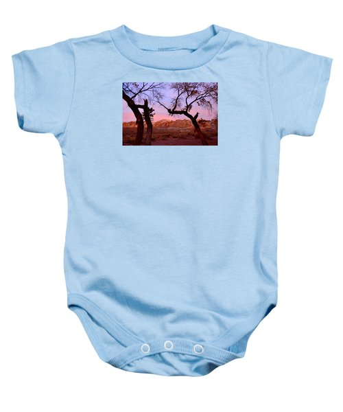 Sunset At The Swell Baby Onesie