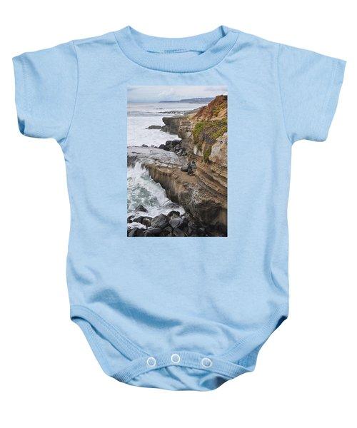 Sunset Cliffs San Diego Portrait Baby Onesie
