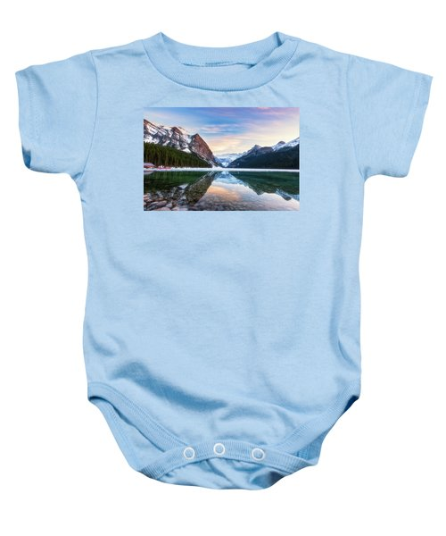 Sunset Lake Louise Baby Onesie