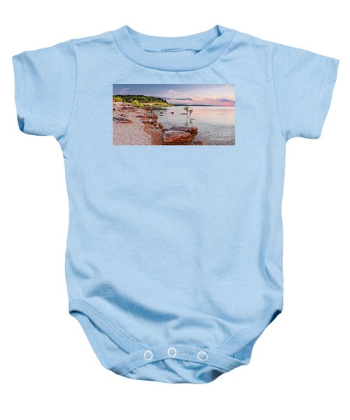 Sunset Panorama Of Canyon Lake East Shore New Braunfels Guadalupe River Texas Hill Country Baby Onesie