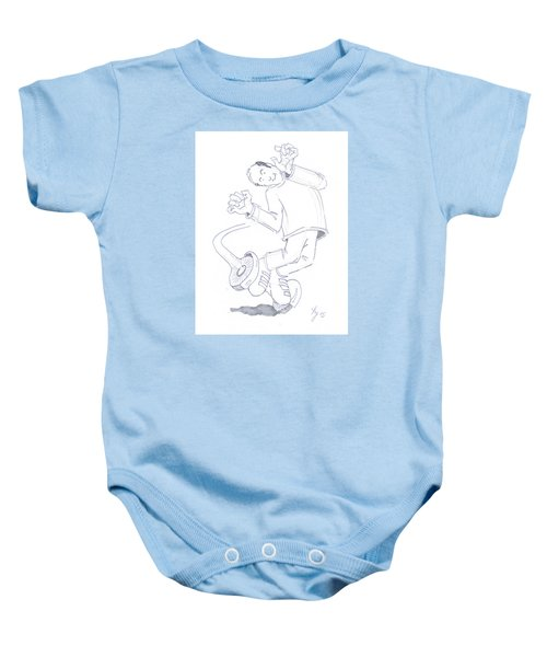 Swegway Hoverboard Geezer Cartoon Baby Onesie