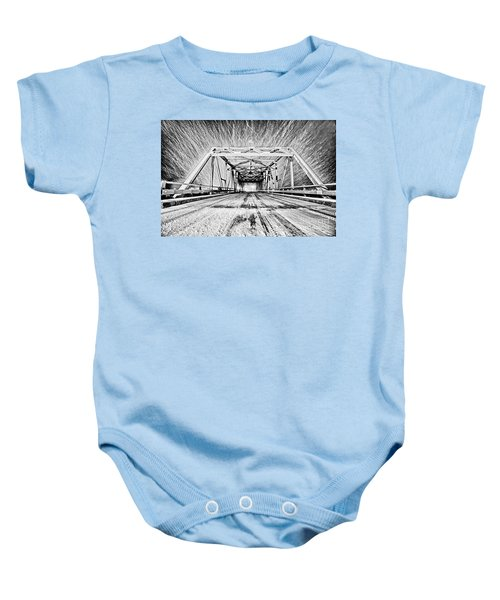 Swing Bridge Blizzard Baby Onesie