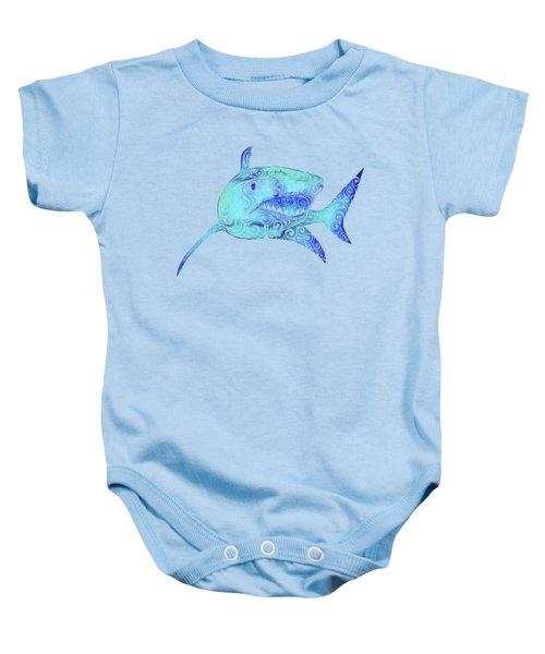 Swirly Shark Baby Onesie by Carolina Matthes