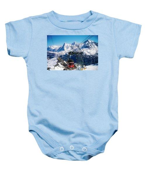 Switzerland Alps Schilthorn Bahn Cable Car  Baby Onesie