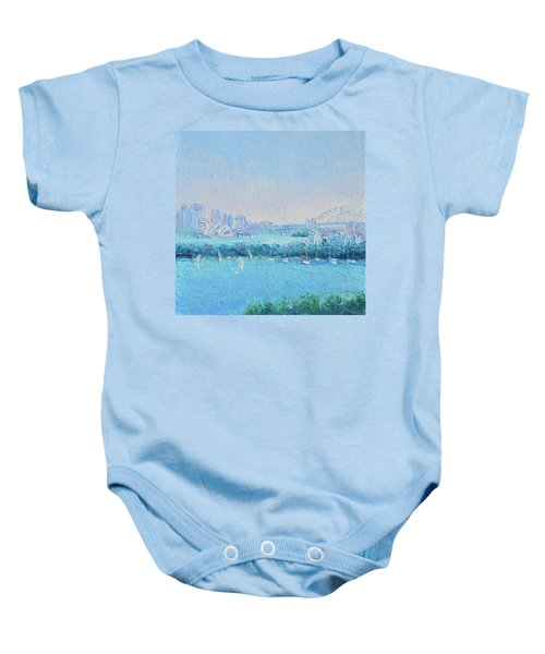 Sydney Harbour And The Opera House Baby Onesie by Jan Matson