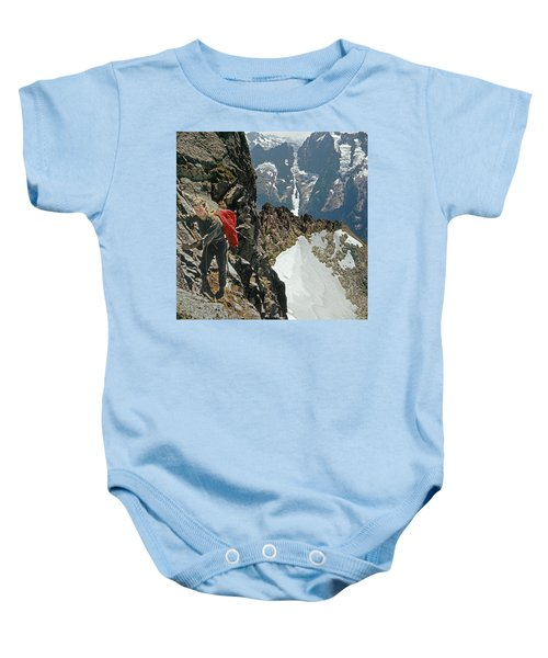 T-04403 Walt Buck Sellers On First Ascent Of Mt. Torment Baby Onesie