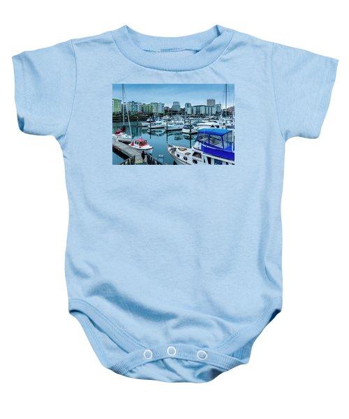 Tacoma Waterfront Marina,washington Baby Onesie