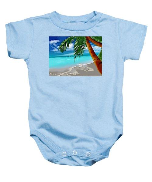 Takemeaway Beach Baby Onesie