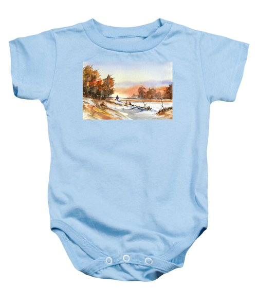 Taking A Walk Baby Onesie