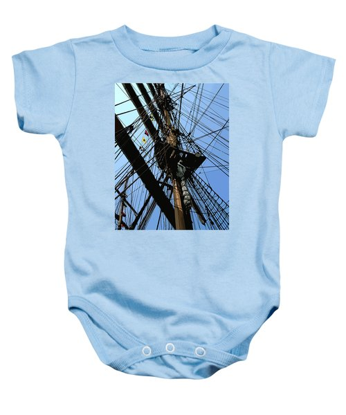Tall Ship Design By John Foster Dyess Baby Onesie