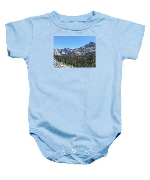 Tenaya Lake And Surrounding Mountains Yosemite National Park Baby Onesie